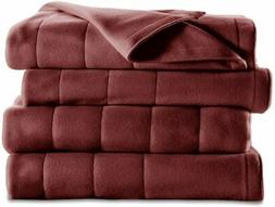 Sunbeam 10 Settings Quilted Fleece Heated Queen Blanket Garn