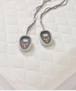 Beautyrest 100% Cotton Deep Pockets Heated King Mattress Pad