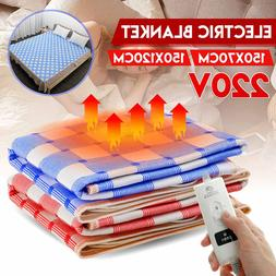 220V Electric <font><b>Heated</b></font> Blanket Warm Winter