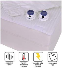 Serta | Smart Heated Removable Top Mattress Pad with Safe &