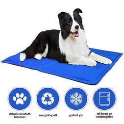 2Pc Pet Dog Cat Self Cooling Gel Mat Pad Bed Cool Mattress F