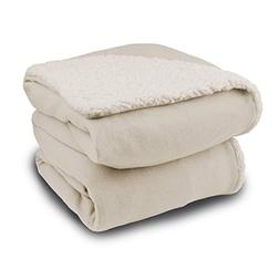 Biddeford 4446-9074139-757 Comfort Knit Throw with Natural S