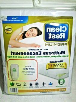 Clean Rest Premium Mattress Encasement, Twin