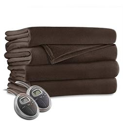 Sunbeam Luxurious Velvet Plush King Heated Blanket with 20 H