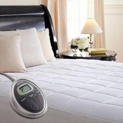 Sunbeam Queen Heated Quilted Mattress Pad with Dual Control