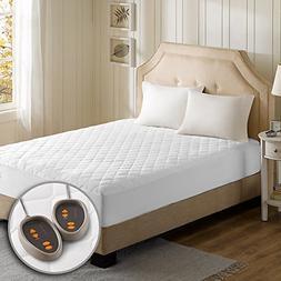 BEST Cotton Blend Heated Mattress Pad Secure Comfort Technol