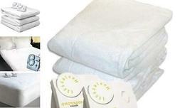 Biddeford 5902-908221-100 Electric Heated Mattress Pad, Whit