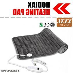 "34""x17"" Electric Heating Pad XXXL Ultra Wide Microplush For"
