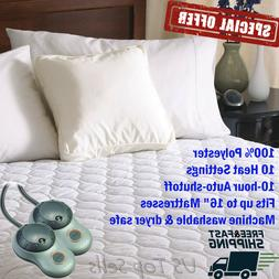 Electric Heated Mattress Pad Comfort Warming Bedding Sheets