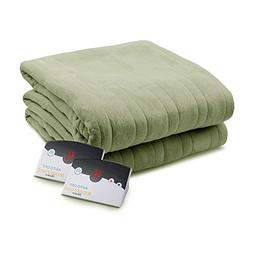 Pure Warmth Comfort Knit Heated Electric Blanket King Sage G