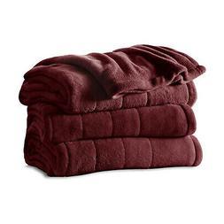 Sunbeam Full Size Soft Microplush Heated Blanket with 10 Hea
