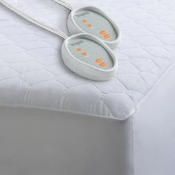 Heated Mattress Pad Bed Warmer Dual Control Quilted Blend El