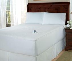 Perfect Fit Invisiwire Microplush Warming mattress pad, Quee