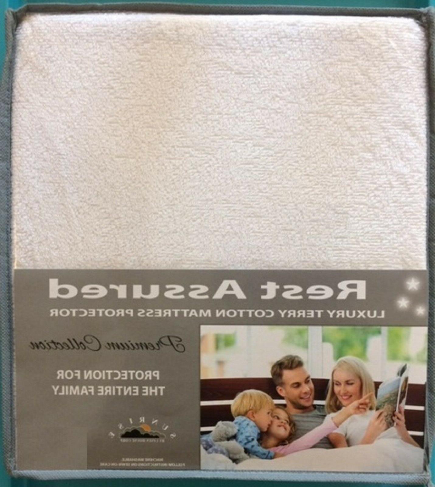 QUEEN Protector / Pad Waterproof Cotton Hypoallergenic Cover