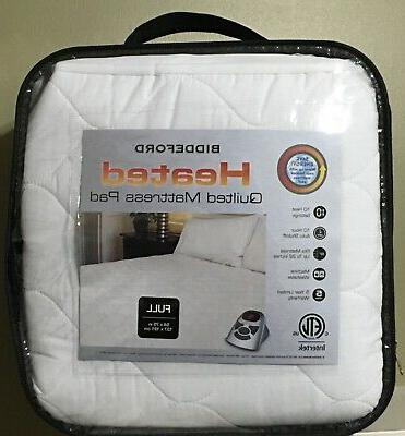 full quilted heated mattress pad cotton blend
