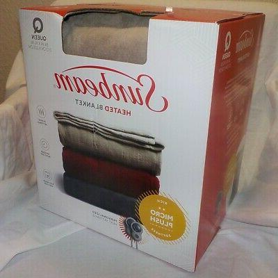 heated blanket micro plush queen size 84