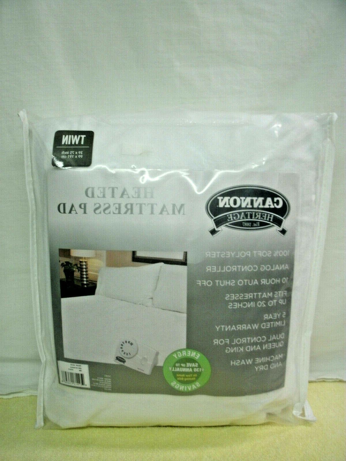 heated mattress pad twin size new in