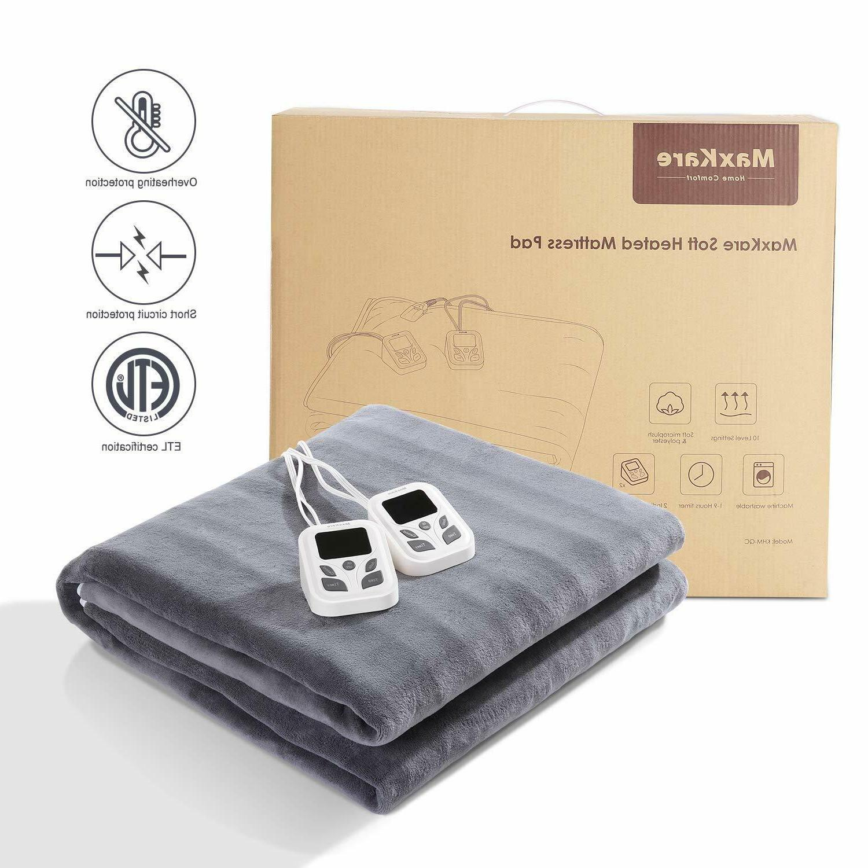 heated mattress pad under blanket dual control