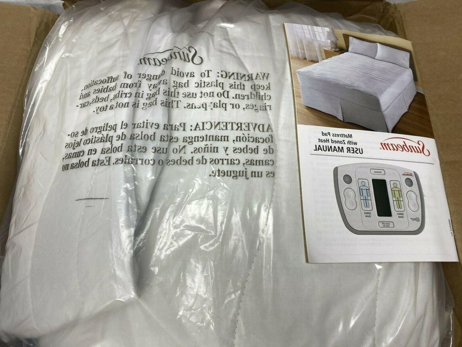 heated mattress pad w zoned heat size