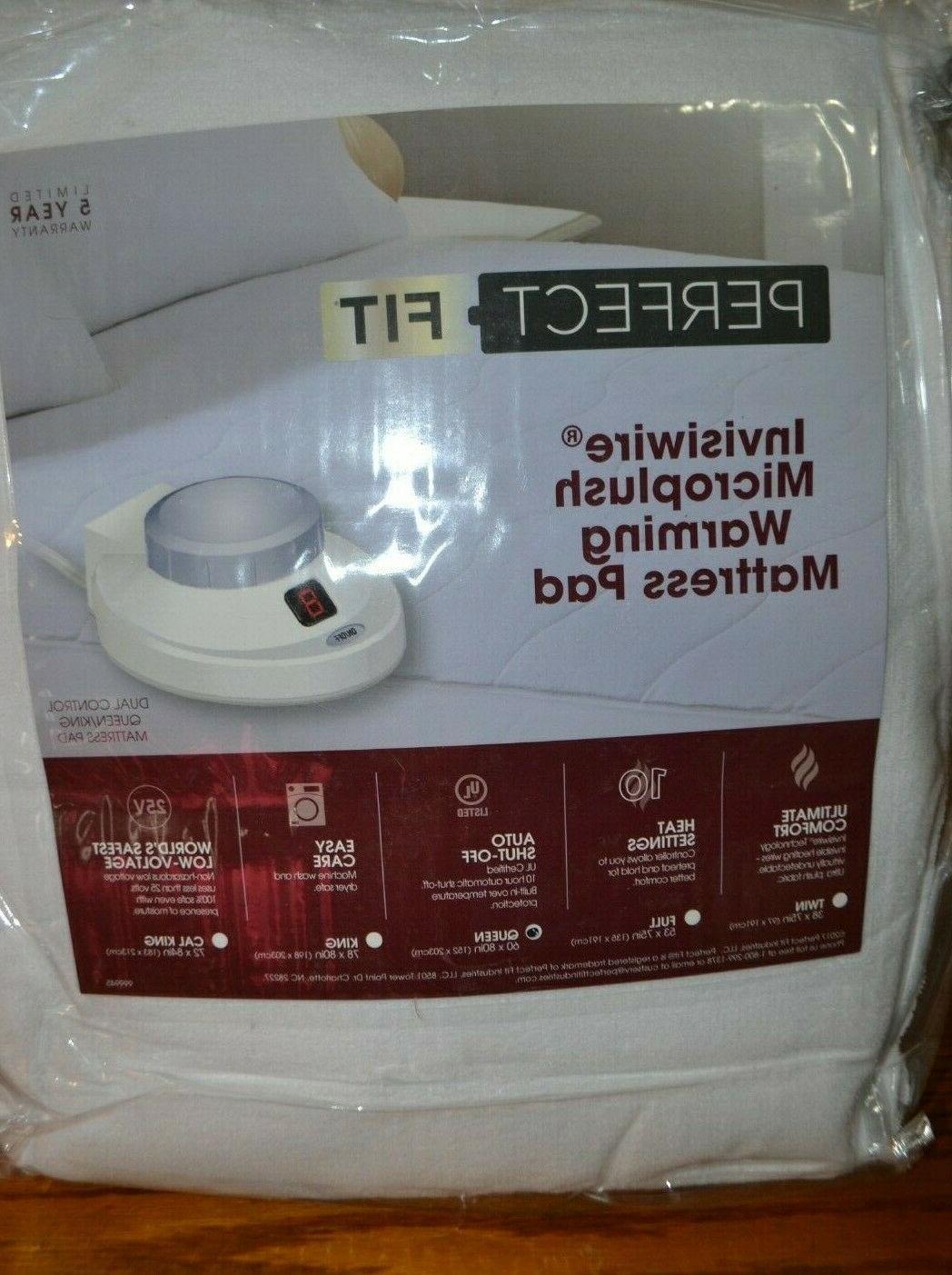 Perfect Fit Invisiwire Warming mattress pad, Full