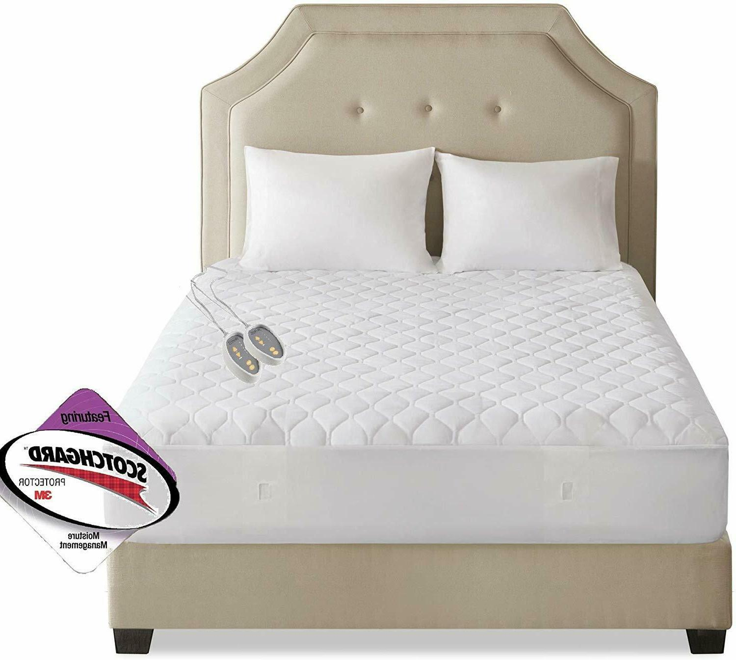 Luxury Heated Mattress Bed Warmer 3M Quilted Bed Mattress