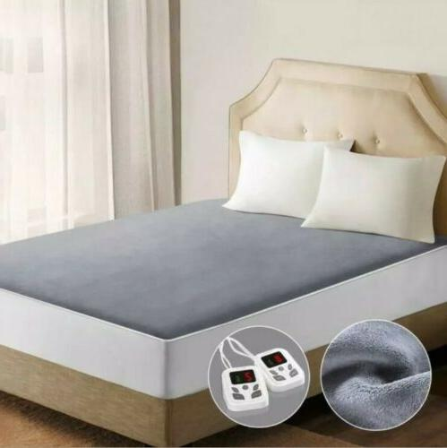mattress pad heated dual control queen size