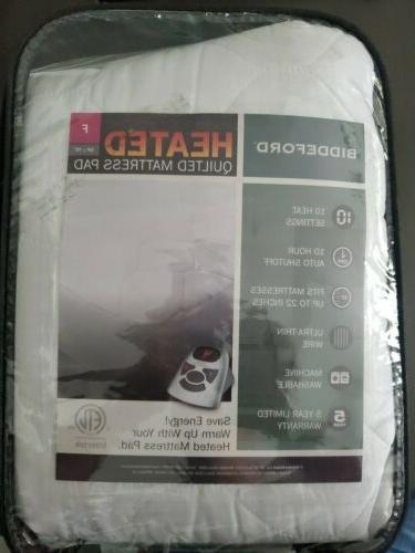microplush sherpa electric heated warming mattress pad