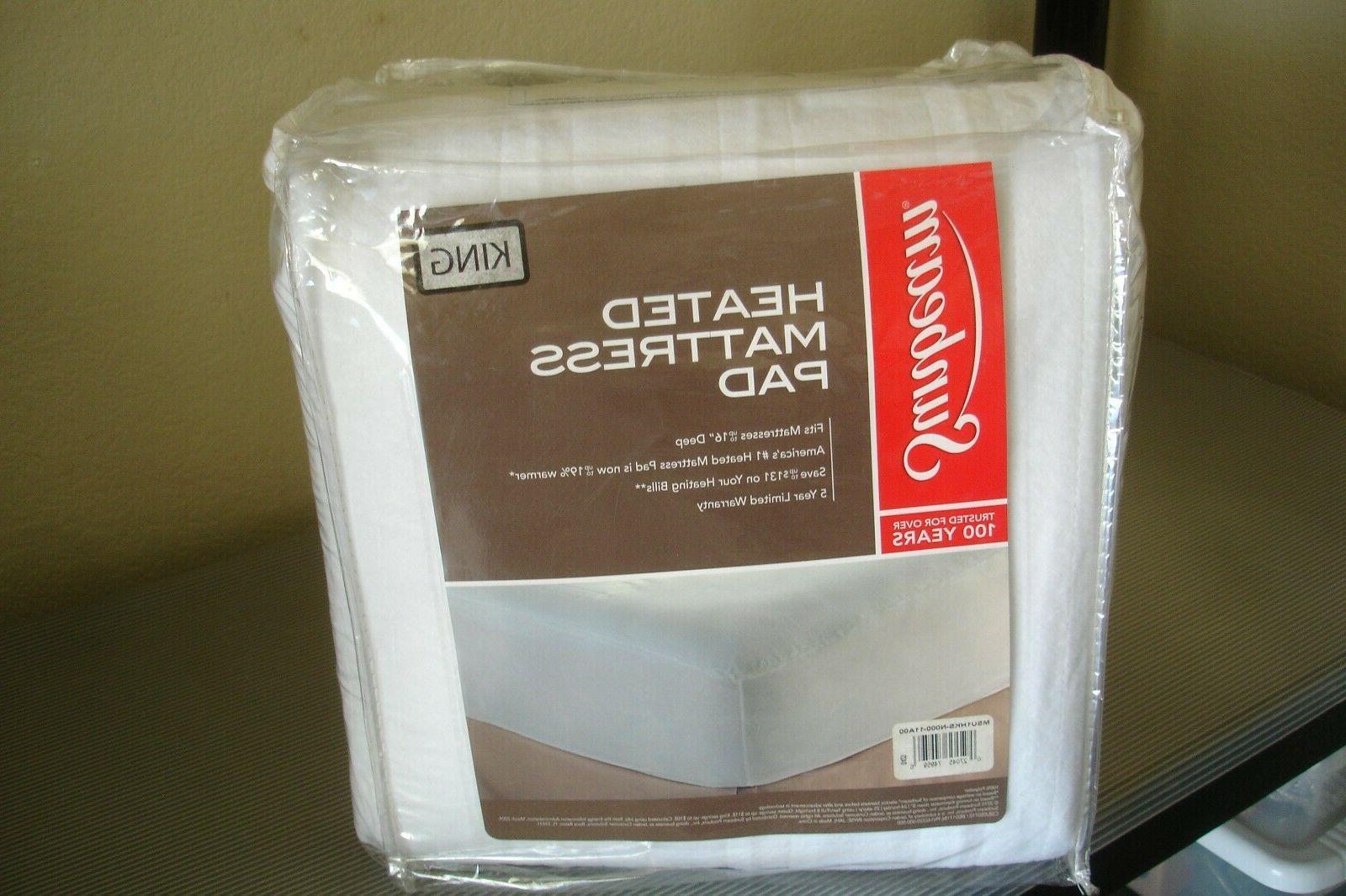 new heated mattress pad king size msu1hks