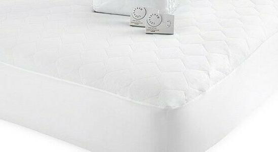 NEW White QUILTED Mattress Pad control