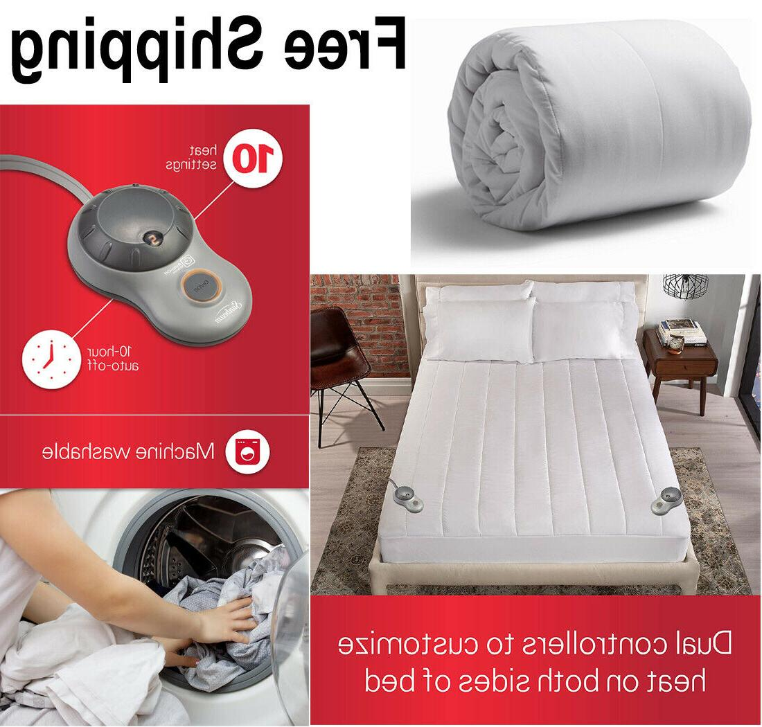 queen size heated mattress pad dual controls