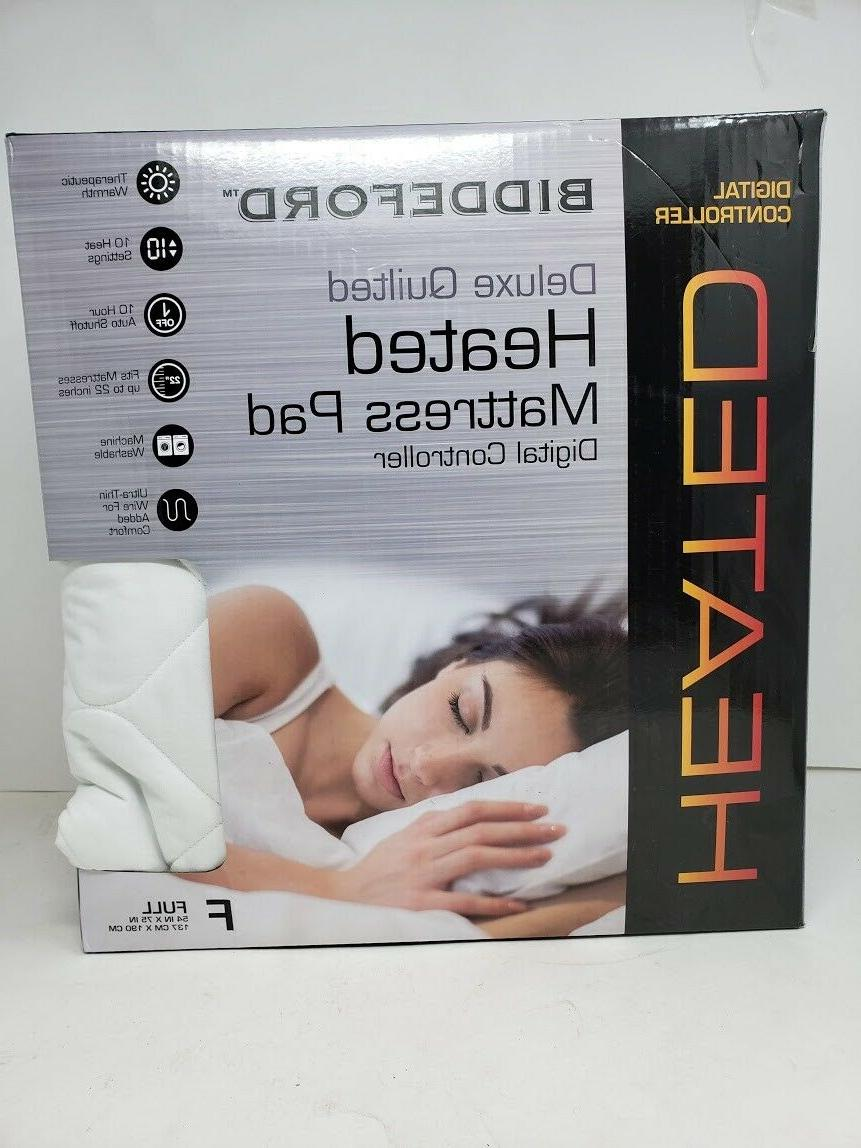 quilted electric heated mattress pad with digital