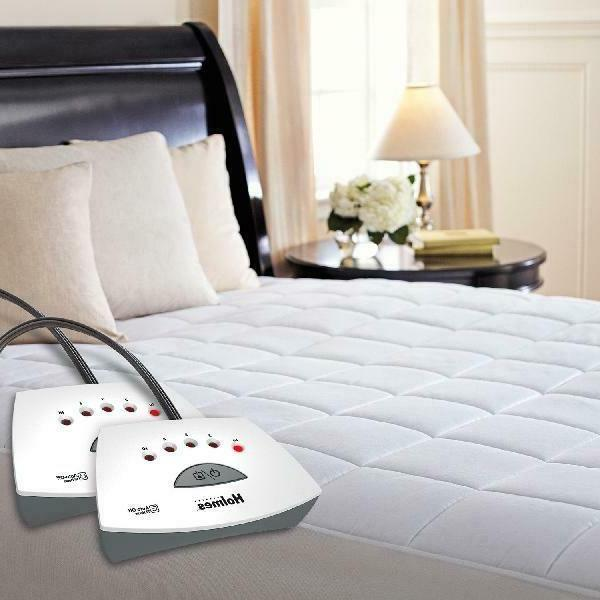 quilted heated mattress pad queen