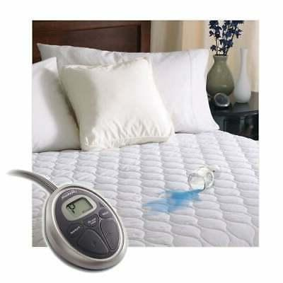 Sunbeam SelectTouch Waterproof Quilted Electric Heated White