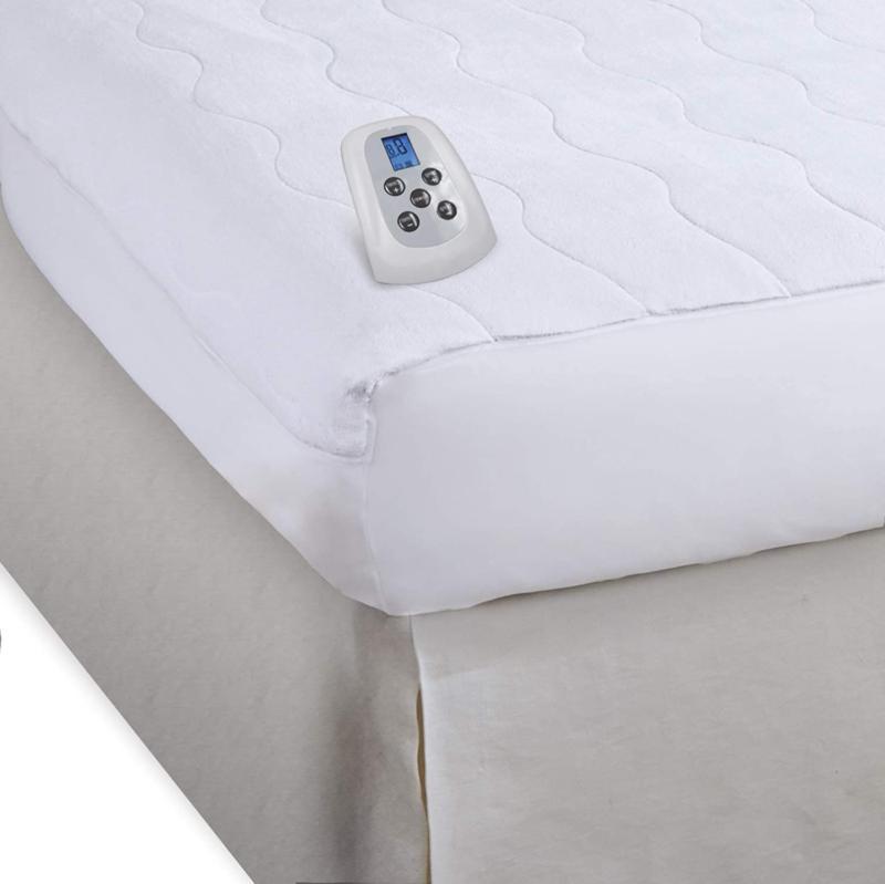 serta smooth plush velour electric heated mattress