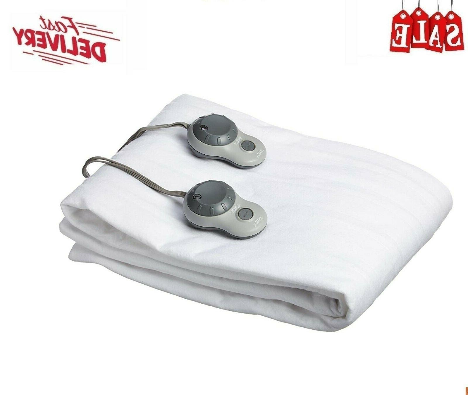 sunbeam heated mattress pad queen
