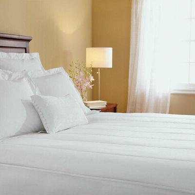 sunbeam slumber rest quilted electric heated mattress
