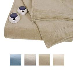 Serta Luxe Plush Electric Warming Blanket