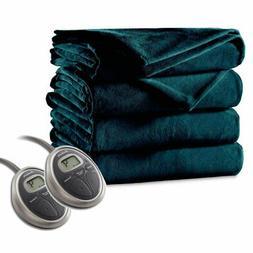 Sunbeam Luxurious Premium Plush Electric Heated Blanket, Aut
