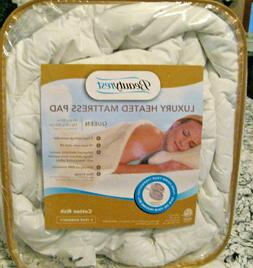Luxury Heated Beautyrest Mattress Pad Bed Heater Cushion Cov