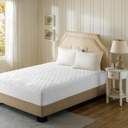Luxury Heated Mattress Pad Bed Warmer 3M Scotchgard Quilted