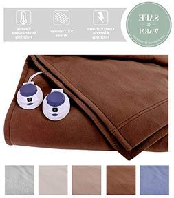 Soft Heat Luxury MicroFleece LoVolt Electric Heated Blanket