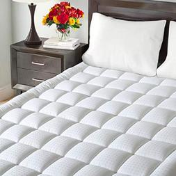 Maevis Mattress Pad Cover 100% 300TC Cotton with 8-21 Inch D
