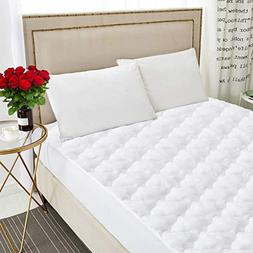 AKKOP Mattress Pads Queen Size Cover Topper Protector Cotton