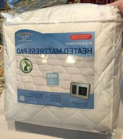 new queen quilted heated mattress pad digital