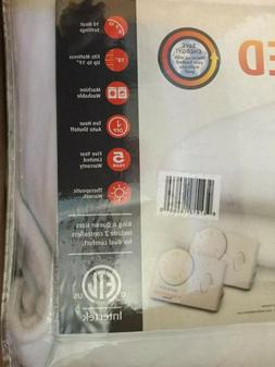 NEW Biddeford QUEEN Size White Electric Heated Mattress Pad