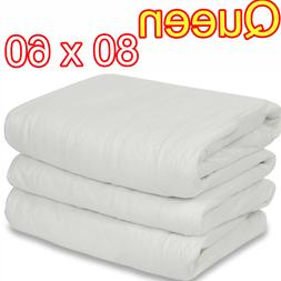 QUEEN SIZE ELECTRIC HEATED MATTRESS PAD PREMIUM WARMING BED