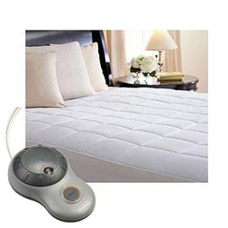 Sunbeam Premium Quilted Cotton Heated Electric Mattress Pad