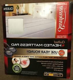 Sunbeam Quilted Heated Mattress Pad Queen Dual Controls Ther