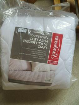 SUNBEAM QUILTED HEATED MATTRESS PAD QUEEN SIZE DUAL CONTROLL