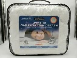 Biddeford Quilted Sherpa Electric Heated Mattress Pad FULL S